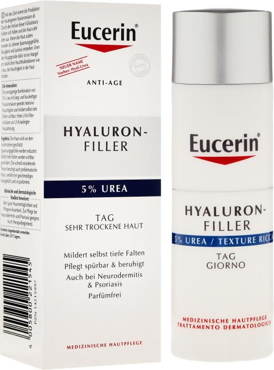Hialuronowy krem wypełniający zmarszczki z 5% mocznikiem - Eucerin Hyaluron-Filler — фото N1