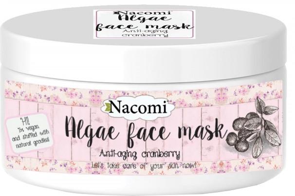 Algowa maska do twarzy przeciwzmarszczkowa żurawina - Nacomi Professional Face Mask