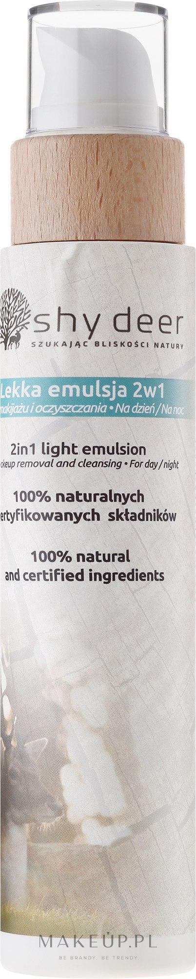 Lekka emulsja 2 w 1 do demakijażu i oczyszczania twarzy na dzień i noc - Shy Deer — фото 200 ml