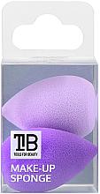 Kup Minigąbki do makijażu, 2 szt. - Tools For Beauty Mini Concealer Makeup Sponge Purple