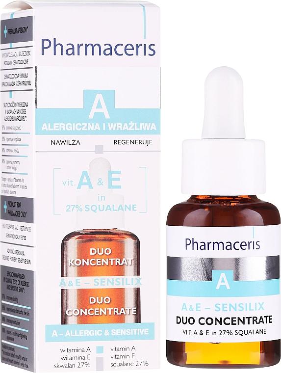 Koncentrat do twarzy z witaminą A i E - Pharmaceris A A&E Sensilix Duo Concentrate
