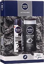 Zestaw - Nivea Men Active Care (sh/gel 250 ml + deo 150 ml) — фото N1