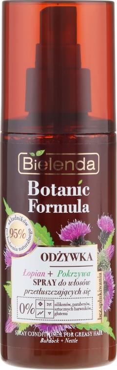 Odżywka w sprayu do włosów przetłuszczających się Łopian + pokrzywa - Bielenda Botanic Formula