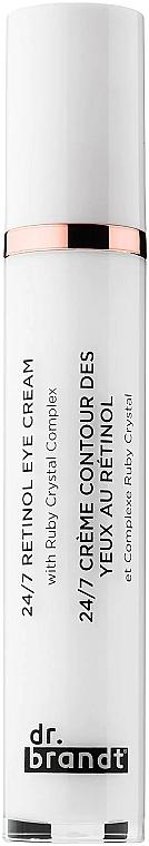 Przeciwzmarszczkowy krem pod oczy z retinolem - Dr. Brandt 24/7 Retinol Eye Cream