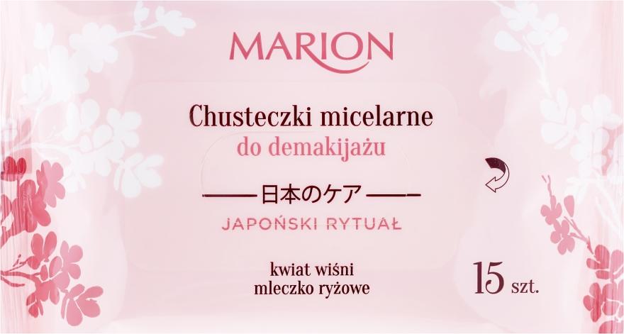 Chusteczki micelarne do demakijażu, 15 szt. - Marion Japanese Ritual Micellar Wipes Make-Up Removal