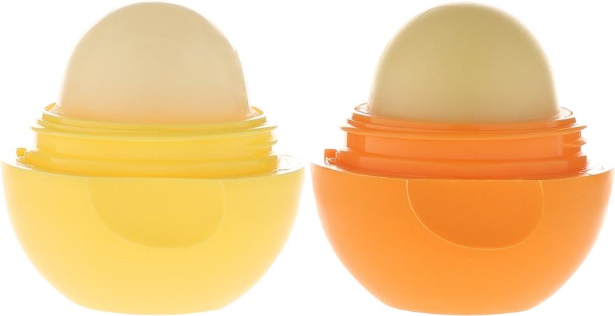 Zestaw balsamów do ust Skórka pomarańczy + Nuta cytryny - EOS Spring Collection (2 x lip balm 7 g) — фото N3