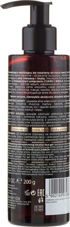 Detoksykująco-nawilżający żel micelarny do mycia twarzy - Bielenda Black Sugar Detox — фото N2