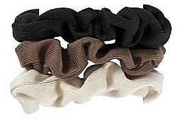 Kup Gumki do włosów 420, czarny + brązowy + beżowy - Glamour