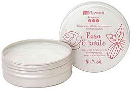 Kup Odżywczo-regenerujący krem do rąk z oliwą do skóry suchej i popękanej Róża i karite - La Saponaria Hand Cream Rose and Shea Butter