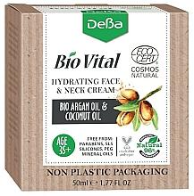 Kup Nawilżający krem do twarzy i szyi Olej arganowy i kokosowy 35+ - DeBa Bio Vital Hydrating Face and Neck Cream