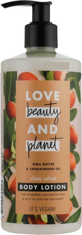 Balsam do ciała Masło shea i olej z drzewa sandałowego - Love Beauty & Planet Shea Butter & Sandalwood Oil Body Lotion — фото N1