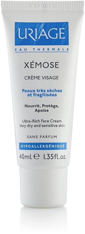 Odżywczy krem do twarzy do skóry bardzo suchej i wrażliwej - Uriage Xémose Ultra-Rich Face Cream