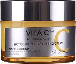 Krem do twarzy ze złotem - Missha Vita C Plus Spot Correcting & Firming Cream — фото N4