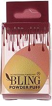 Kup Gąbka do makijażu, różowo-żółta - Bling Powder Puff