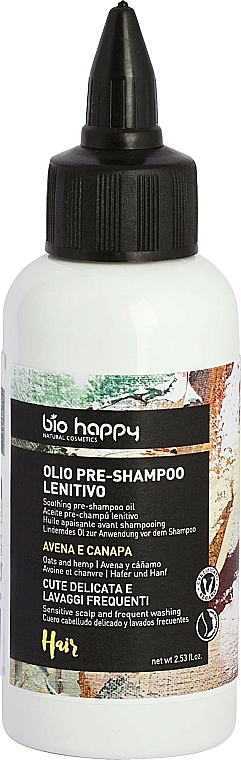 Olejek do włosów Owies i konopie - Bio Happy Oat & Hemp Pre-Shampoo Oil  — фото N1