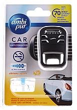Kup Zestaw do samochodu dyfuzor + wkład niwelujący zapach dymu papierosowego - Ambi Pur (freshener/1szt+refill/7ml)