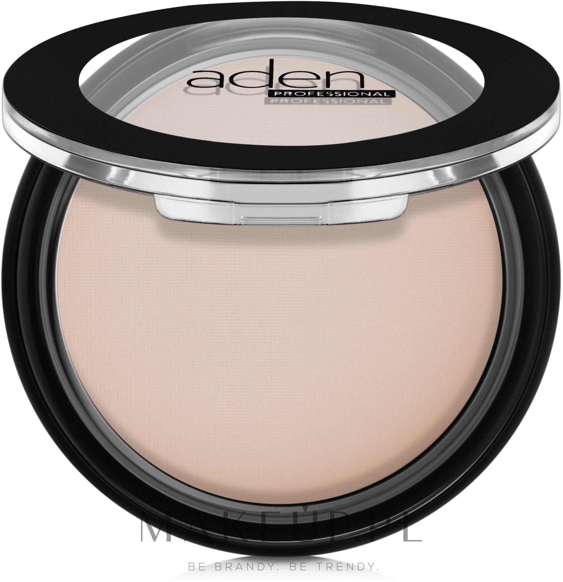 Matujący puder w kompakcie - Aden Cosmetics Silky Matt Compact Powder — фото 01 - Tan