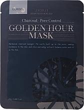 Kup Maseczka w płachcie do twarzy z węglem aktywnym - Elroel Golden Hour Mask Charcoal Pore Control