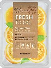 Kup Cytrusowa maska na tkaninie do twarzy Yuja - Tony Moly Fresh To Go Mask Sheet Yuja