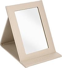 Kup Lusterko kosmetyczne w formie ksiązki, beżowe - MakeUp Tabletop Cosmetic Mirror Beige