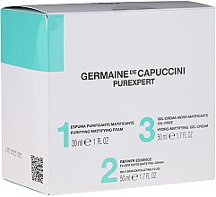 Kup Zestaw do pielęgnacji cery tłustej, mieszanej i trądzikowej - Germaine de Capuccini Purexpert Special Set 1-2-3 Oily (foam 30 ml + fluid 50 ml + gel 50 ml)