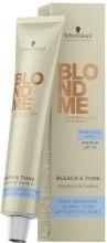 Kup Neutralizujący krem tonujący do rozjaśniania włosów - Schwarzkopf Professional BlondMe Bleach & Tone