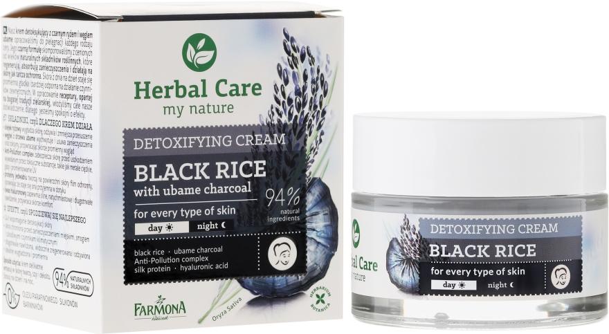 Detoksykujący krem na dzień i noc Czarny ryż z węglem ubame - Farmona Herbal Care