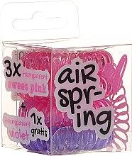 Kup Gumki do włosów, różowe + fioletowe, 4 szt. - Hair Springs