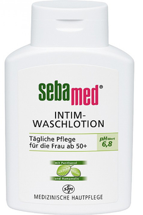 Balsam do higieny intymnej z oczarem wirginijskim - Sebamed Sensitive Skin Intimate Washing Lotion pH 6.8 — фото N1