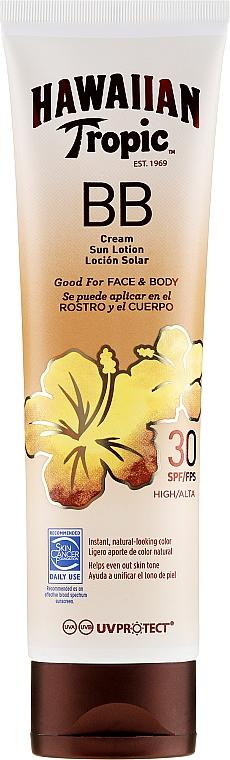 Przeciwsłoneczny krem BB do twarzy i ciała - Hawaiian Tropic BB Cream Sun Lotion Face And Body Spf30 — фото N1