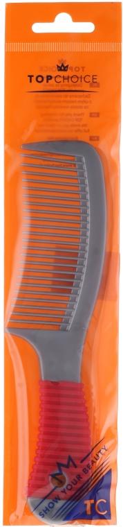 Grzebień do włosów 1208, szaro-czerwony - Top Choice — фото N1