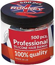 Kup Silikonowe gumki do włosów, czarne - Ronney Professional Silicone Hair Bands