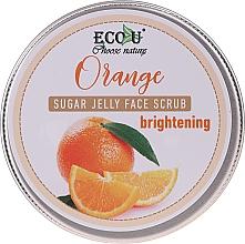 Kup Rozjaśniająca peelingująca galaretka do twarzy Pomarańcza - Eco U Orange Brightening Sugar Jelly Face Scrub