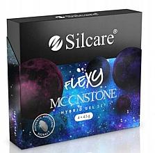 Kup Zestaw - Silcare Flexy Moonstone Hybrid Gel Set (nail/polish/4x4.5g)