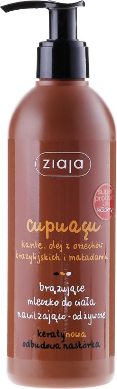 Nawilżająco-odżywcze mleczko brązujące do ciała - Ziaja Cupuaçu