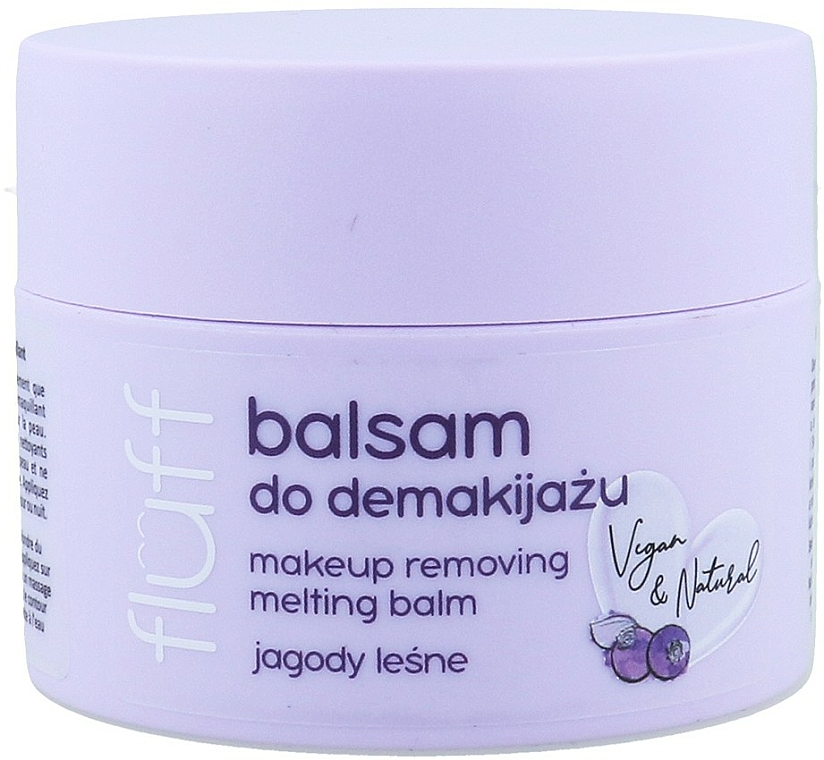 Balsam do demakijażu Jagody leśne - Fluff Makeup Remover Balm Wild Blueberries