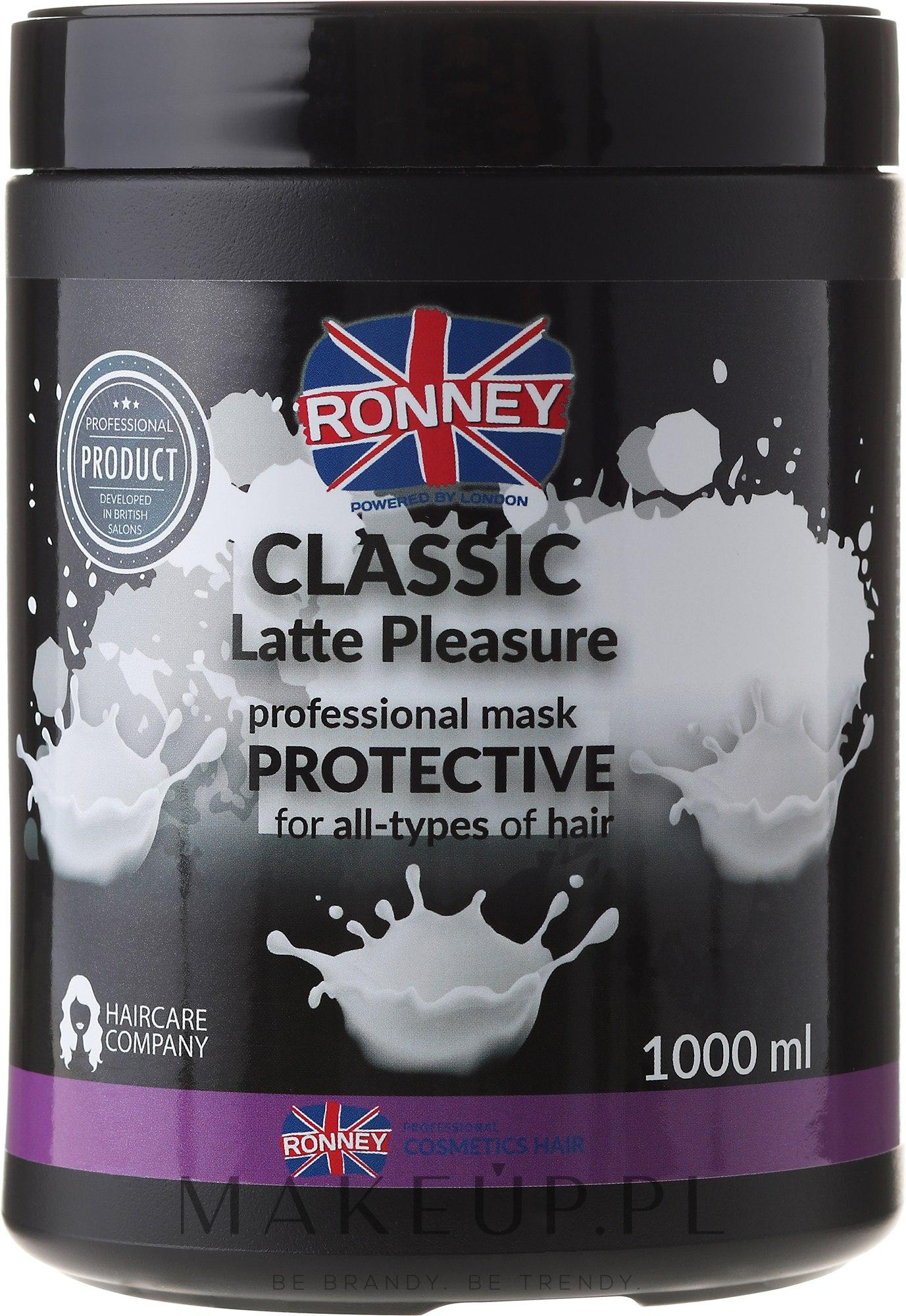 Ochronna mleczna maska do wszystkich rodzajów włosów - Ronney Professional Classic Latte Pleasure Protective Mask — фото 1000 ml