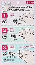 Kup 3-etapowa maska usuwająca czarne wągry - Mediheal PiggyMom SoakSoak Nose-Pack