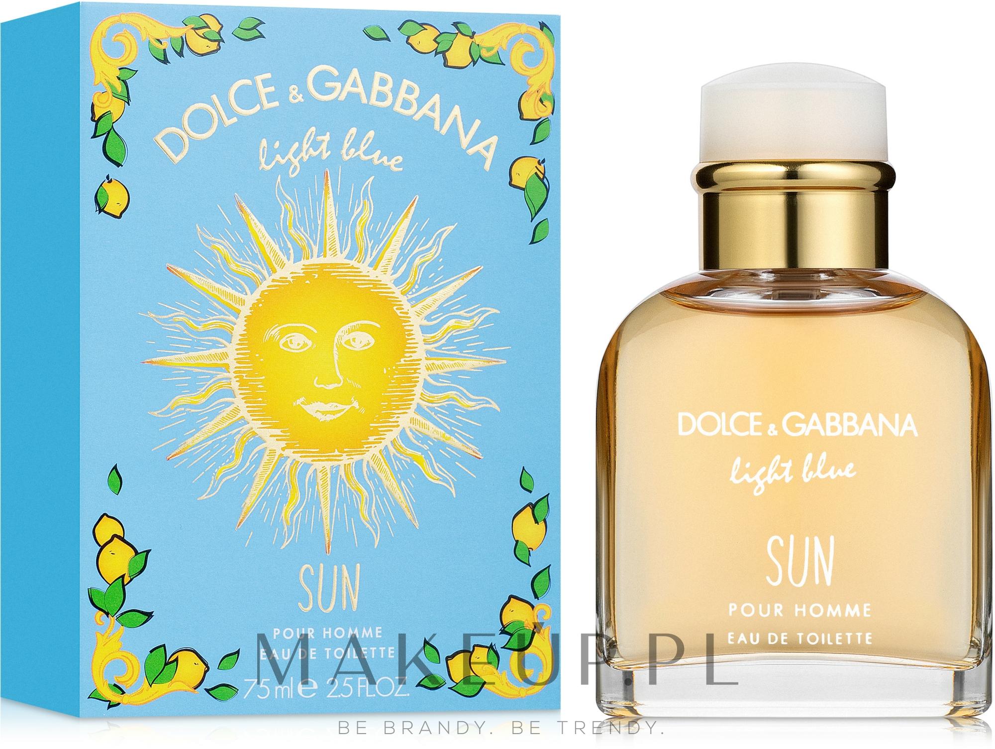 Dolce & Gabbana Light Blue Sun Pour Homme - Woda toaletowa — фото 75 ml