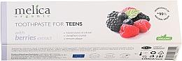 Kup Pasta do zębów dla młodzieży z ekstraktem z jagód 6-14 lat - Melica Organic Toothpaste For Teens With Berries Extract