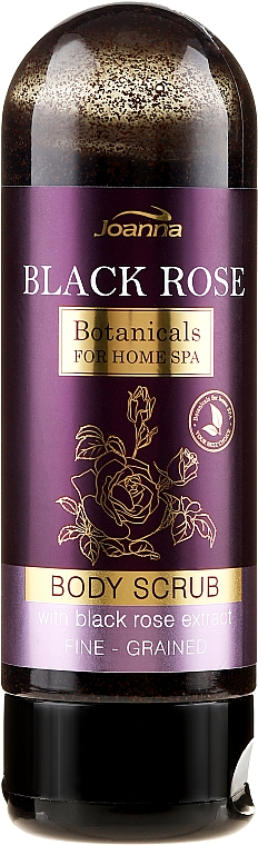 Regenerujący peeling do ciała z ekstraktem z czarnej róży - Joanna Botanicals For Home Spa — фото N1