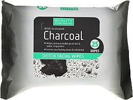 Kup Detoksykujące chusteczki do twarzy z węglem aktywnym - Beauty Formulas Charcoal Detox Facical Wipes