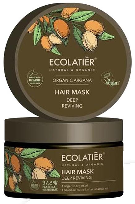 Maska do włosów Głęboka regeneracja - Ecolatier Organic Argana Hair Mask