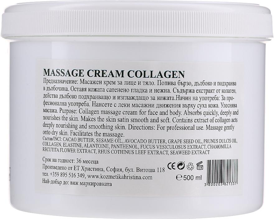Krem do masażu twarzy i ciała - Hristina Cosmetics Collagen Massage Cream — фото N2