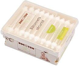 Kup Organiczne patyczki kosmetyczne dla dzieci z ogranicznikiem, 60 szt. - Bocoton