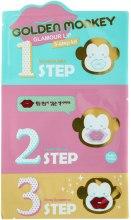Kup Koreańska kuracja do suchych i spierzchniętych ust - Holika Holika Golden Monkey Glamour Lip 3-Step Kit