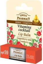 Kup Balsam do ust Brusznica i żurawina SPF 10 - Green Pharmacy Lip Balm Lingonberry And Cranberry