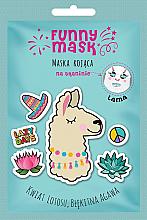 Kup Maska kojąca na tkaninie do twarzy Lama - Marion Funny Mask
