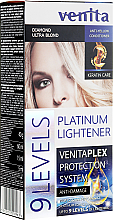 Kup PRZECENA! Rozjaśniacz do włosów o 9 tonów - Venita Plex Platinum Lightener *