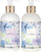 Zestaw do pielęgnacji ciała - Baylis & Harding Royal Bouquet Lilac & English Lavender (b/lot 300 ml + soap 300 ml) — фото N2